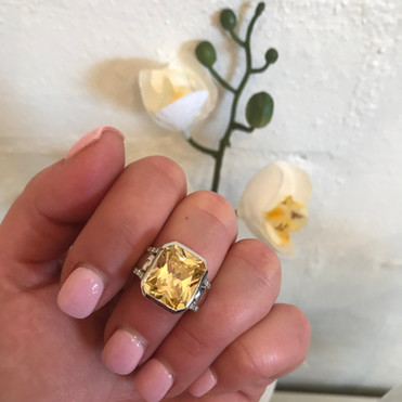"The ""Soleil"" Cocktail Ring"