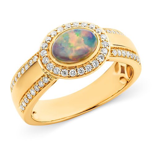 """Geneva"" Opal & Diamond Ring"