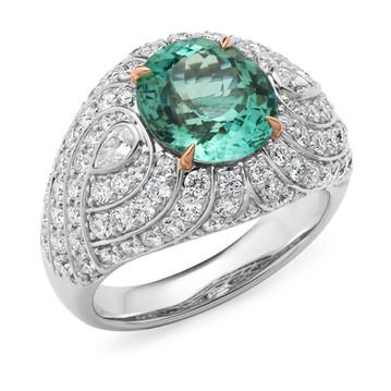 """Elysium"" Tourmaline and Diamond Ring"