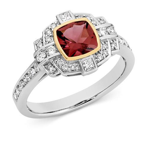 """LuAnn"" Pink Tourmaline and Diamond Ring"