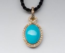 Turquoise & Diamond by Lisa D Jewels