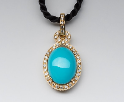 """Cleopatra"" Turquoise & Diamond Enhancer"