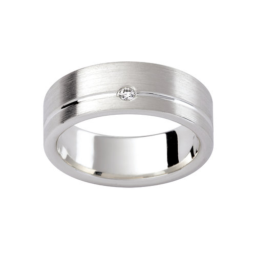 """Steller"" Diamond Set Gents Ring"