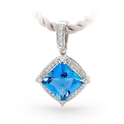 """Xanadu"" Blue Topaz and Diamond Enhancer"