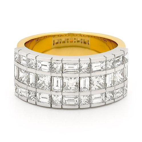 """Caroline"" Princess and Baguette Diamond Dress Ring"