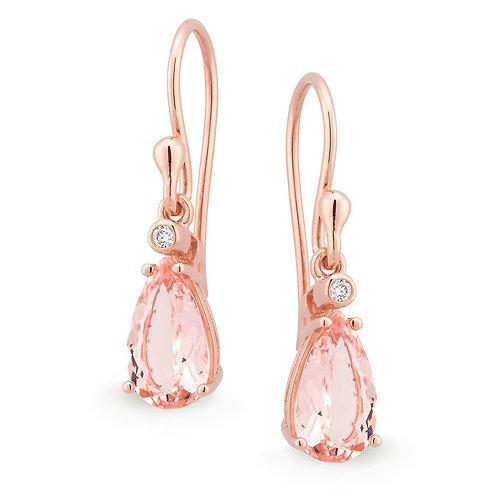"""""""Mia"""" Morganite and Diamond Earrings"""