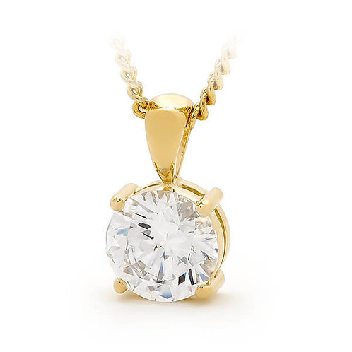 """Starbrite"" Gold and Cubic Zirconia Pendant"
