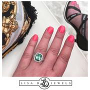"""Contessa"" Mint Tourmaline and Diamond Ring"
