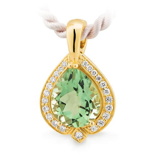 """Hailee"" Green Amethyst and Diamond Enhancer"