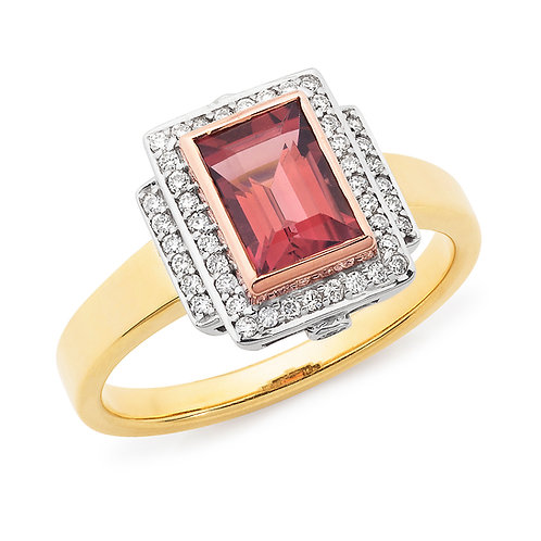 """Xanadu"" Rhodalite Garnet and Diamond Ring"
