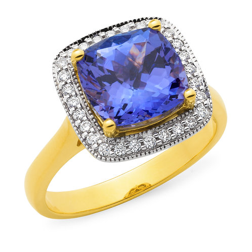 """Charlotte"" Tanzanite and Diamond Ring"