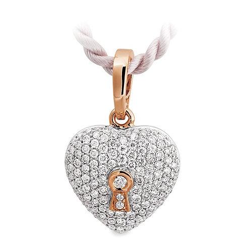"""Bless this Heart"" Pave Diamond Pendant"