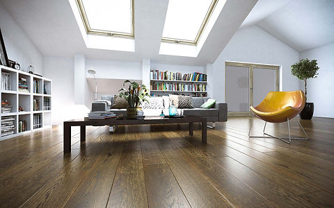 Room On The Attic With Warm Brown Oak Timber Flooring