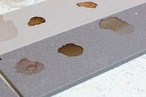 Stain Resistance Test in Ceramic Tiles
