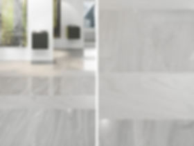 The tonality of the tiles allows to arrange interiors showing the unique beauty of nature. In the picture: unique tiles of Arkesia collection, in the polished and matt version.