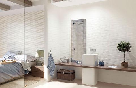 Bathroom And Bedroom Design With Ceramic Wall Tile Collection Paradyz Elia