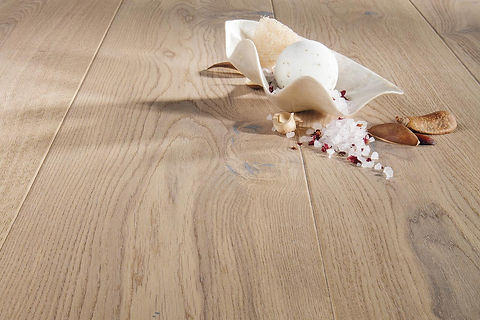 Natural Oak Engineered Timber Flooring with White Sculpture