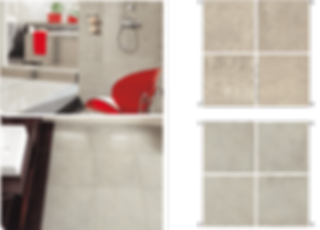 The tonality of the tiles provides them with a unique look inspired by the world of nature.
