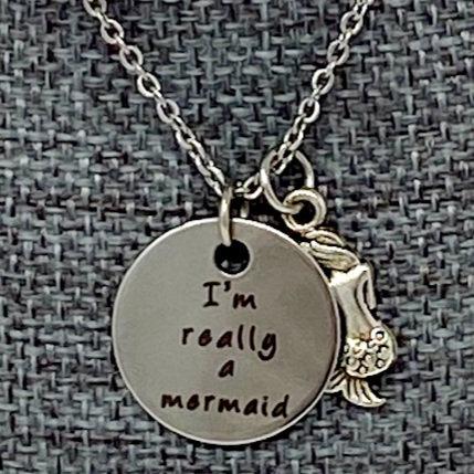 I'M REALLY A MERMAID NECKLACE by Corso Custom Jewelry