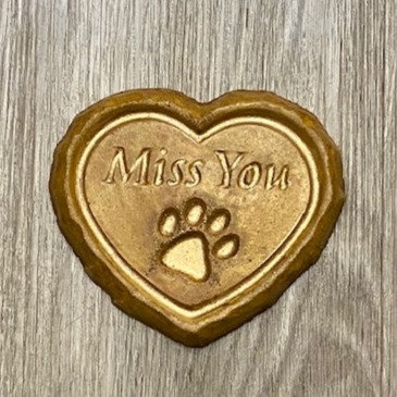 PET I MISS YOU HEART ORNAMENT by My Time Crafts
