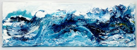 OCEAN MOTION ACRYLIC POUR PAINTING by Louise Fedirko