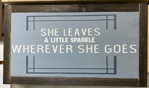 LEAVES A LITTLE SPARKLE SIGN by Dusty Road Designs