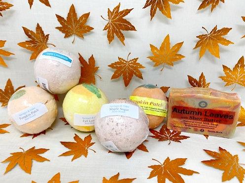 PUMPKIN & FALL BATH PRODUCTS