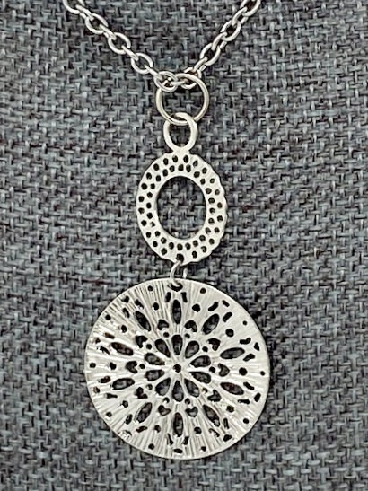 DOUBLE MANDALA NECKLACE by Corso Custom Jewelry