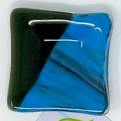 3X3 FUSED GLASS PLATES by Green Leaf Studio