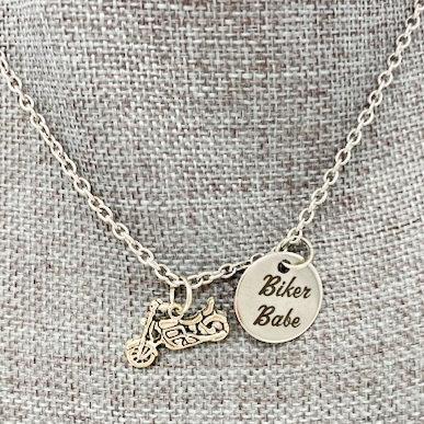 BIKER BABE NECKLACE by Corso Custom Jewelry
