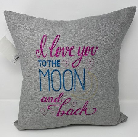 MOON & BACK DECOR PILLOW by Kids N Kats Sewing Creations