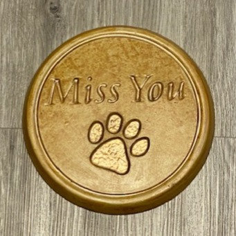 PET I MISS YOU ROUND ORNAMENT by My Time Crafts