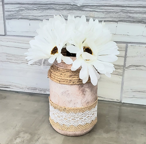 MASON VASE (TAUPE/WHITE) by Sweet Ivy Jewelry