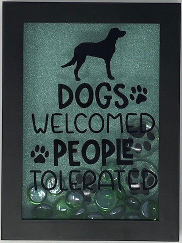 DOGS WELCOME SHADOWBOX 5X7