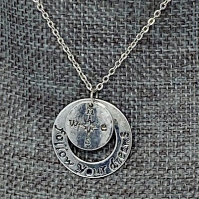 FOLLOW YOUR DREAMS NECKLACE by Corso Custom Jewelry