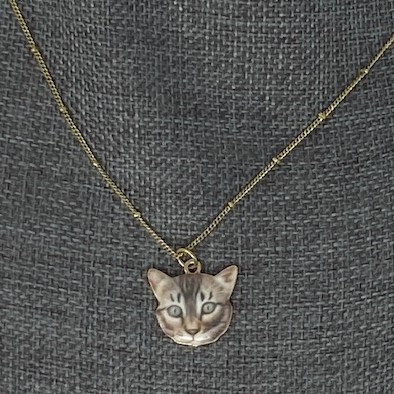 CAT NECKLACE by Jewelry By Nikk