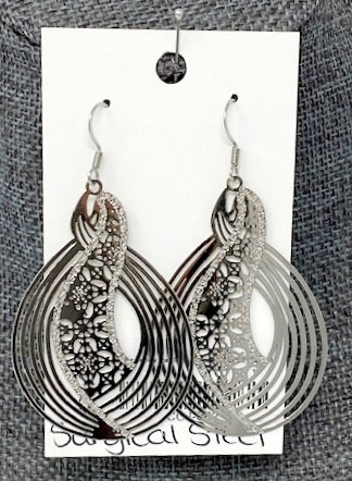 SILVER SNOWY DAY DROP EARRINGS by Corso Custom Jewelry