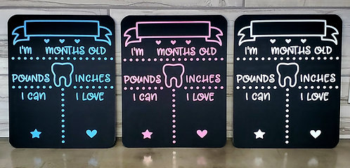 BABY MILESTONE CHALKBOARDS by Sweet Ivy Jewelry & Designs