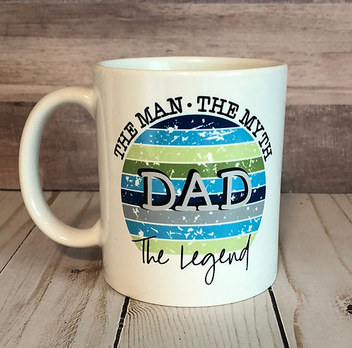 DAD THE LEGEND MUG by Belle Designs