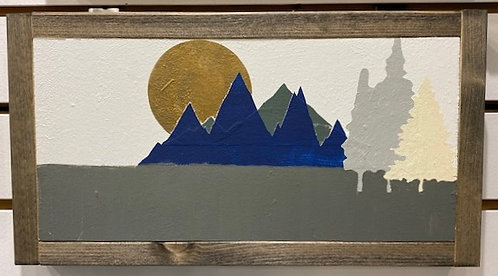 MOUNTAIN ART SIGN by Dusty Road Designs