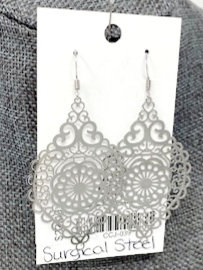 SILVER SPINDLE DROP EARRINGS by Corso Custom Jewelry