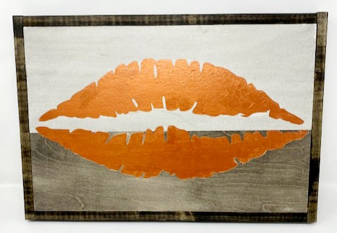 LIPS SIGN by Dusty Road Designs
