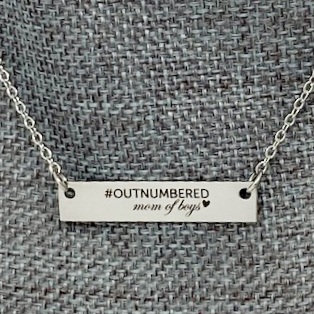 OUTNUMBERED MOM OF BOYS NECKLACE by Corso Custom Jewelry