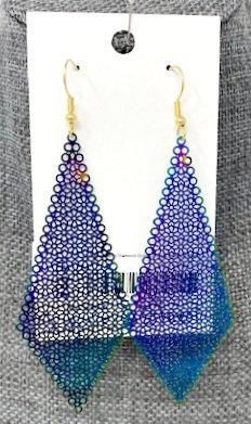 RAINBOW FLORAL DIAMOND DROP EARRINGS by Corso Custom Jewelry