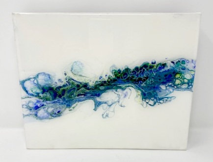 SPLASH ACRYLIC POUR PAINTING by Louise Fedirko