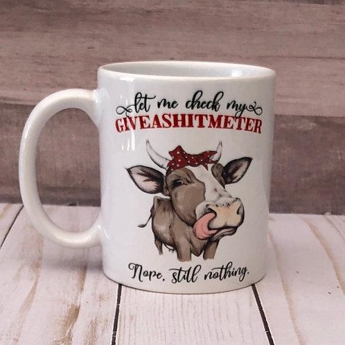 GIVEASHITMETER MUG by Belle Designs