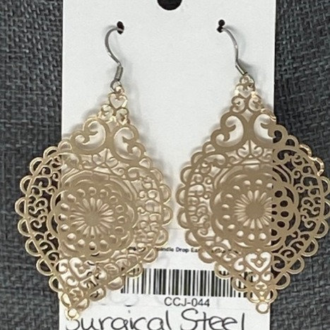 CHAMPAGNE SPINDLE DROP EARRINGS by Corso Custom Jewelry