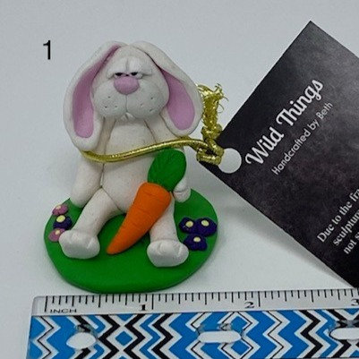 POLYMER CLAY BUNNY ORNAMENTS by Wild Things
