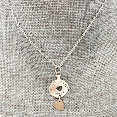 FOLLOW YOUR HEART NECKLACE by Corso Custom Jewelry