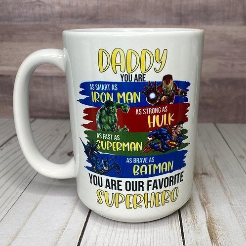 SUPERHERO DAD MUG by Belle Designs